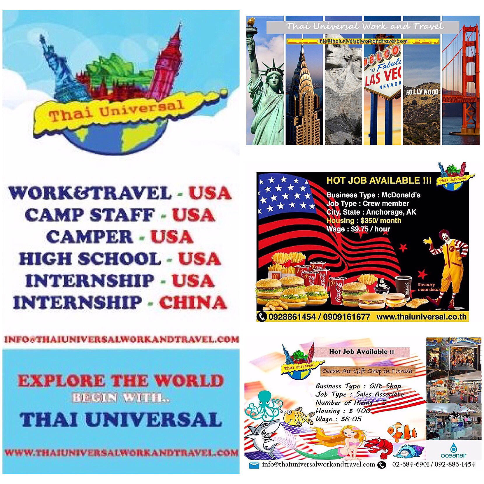NOW OPEN!! Thai Universal Work&Travel on 2nd Floor